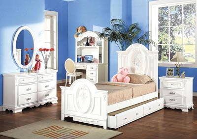 Image for Flora White Twin Trundle