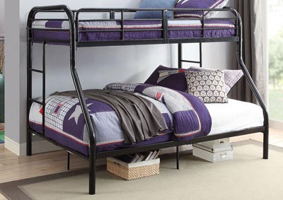 Tritan Black Twin/Full Bunk Bed