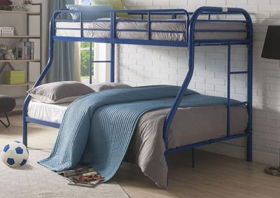 Tritan Blue Twin/Full Bunk Bed