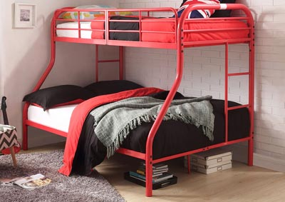 Tritan Red Twin/Full Bunk Bed