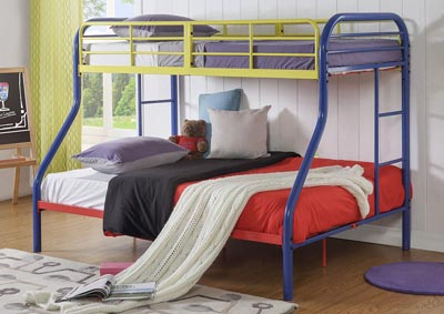 Tritan Rainbow Twin/Full Bunk Bed