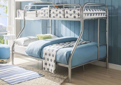 Tritan Silver Twin/Full Bunk Bed