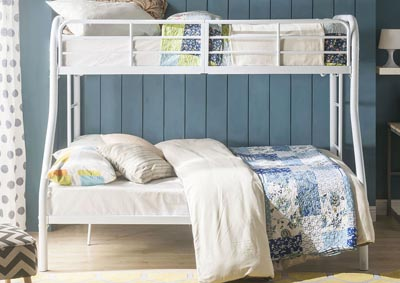 Image for Tritan White Twin/Full Bunk Bed