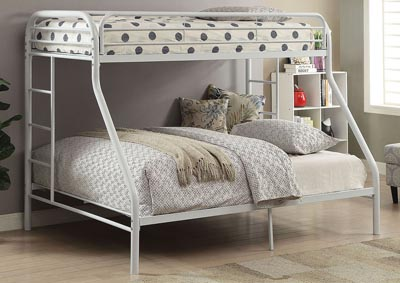 Tritan White Twin XL/Queen Bunk Bed
