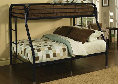 Tritan Black Twin XL/Queen Bunk Bed