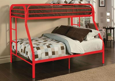 Image for Tritan Red Twin/Full Bunk Bed