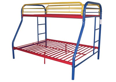 Image for Tritan Rainbow Twin/Full Bunk Bed