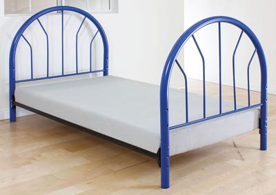 Silhouette Blue Twin Bed (Panels Only)