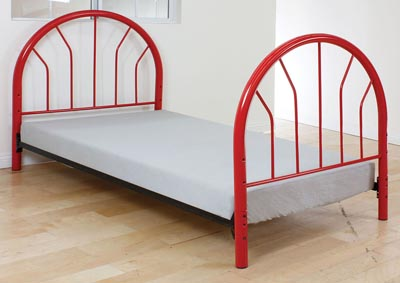 Silhouette Red Twin Bed (Panels Only)
