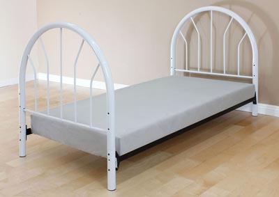 Silhouette White Twin Bed (Panels Only)