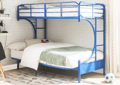 Eclipse Blue Twin/Full/Futon Bunk Bed