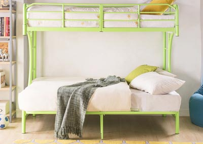 Eclipse Green Twin/Full/Futon Bunk Bed