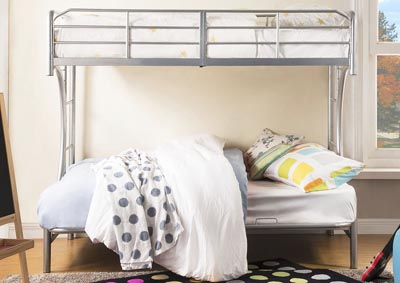 Image for Eclipse Silver Twin/Full/Futon Bunk Bed