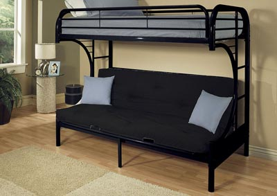 Image for Eclipse Black Twin XL/Queen/Futon Bunk Bed
