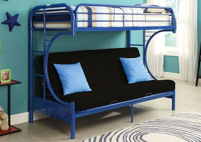 Image for Eclipse Blue Twin XL/Queen/Futon Bunk Bed