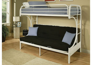 Image for Eclipse White Twin/Full/Futon Bunk Bed