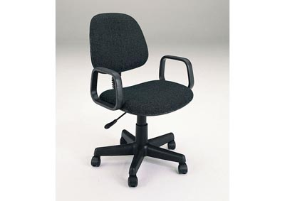 Mandy Black Upholstered Office Chair w/Pneumatic Lift