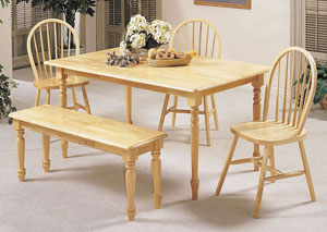 Farmhouse Natural Dining Table