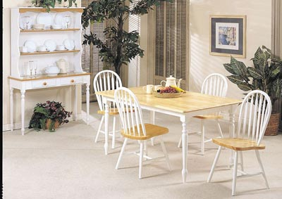 Farmhouse Natural & White Side Chair (Set of 4)