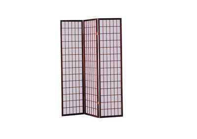 Naomi Cherry 3 Panel Wooden Screen