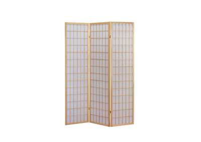 Naomi Natural 3 Panel Wooden Screen