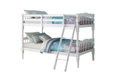 Homestead White Twin Bunk Bed