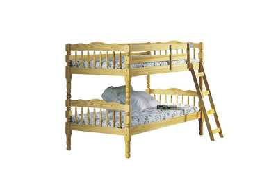 Homestead Natural Twin Bunk Bed