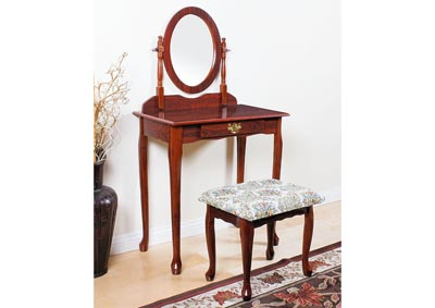 Queen Anne Cherry Vanity Set