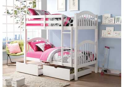 Heartland White Twin/Twin Bunk Bed