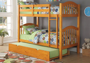 Heartland Honey Oak Twin Bunk Bed