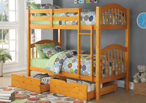 Heartland Honey Oak Twin/Twin Bunk Bed
