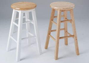 Metro 30' Natural Bar Stool (Set of 2)