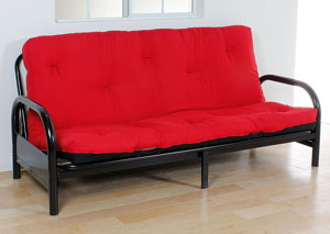 Nabila 6' Red & Black Full Futon Mattress