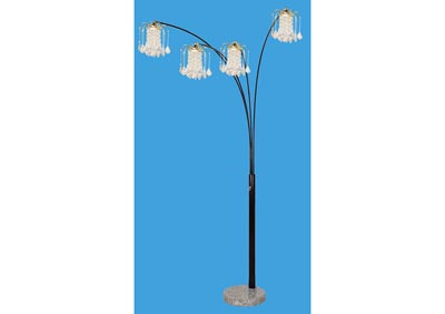 Image for Chandelier Black/Marble Floor Lamp
