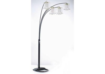 Image for Chandelier Black/Crystalline Floor Lamp