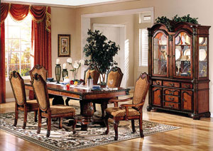 Image for Chateau De Ville Cherry Dining Table