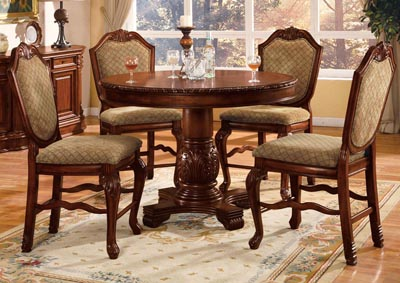 Image for Chateau De Ville Cherry Counter Chair (Set of 2)