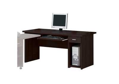 Linda Espresso Computer Side Desk W/Drawer