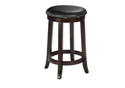 Chelsea PU &Espresso Counter Height Swivel Stool (Set of 2)