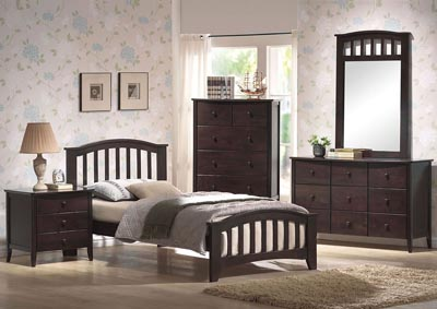 San Marino Walnut Twin Bed