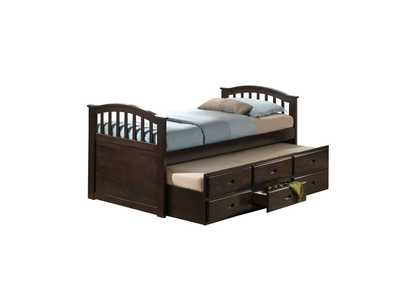 San Marino Walnut Twin Bed w/Trundle