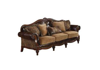 Dreena Two-Tone Brown Loveseat w/3 Pillow