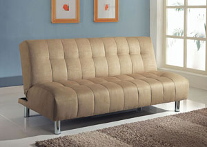 Sylvia Beige Microfiber Adjustable Sofa