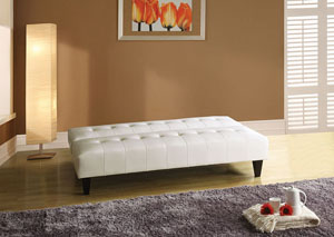 Conrad White PU Adjustable Sofa