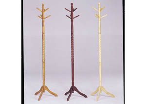 Grady Cherry Coat Rack (Set of 4)