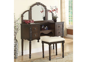 Ashton Oak Vanity Set