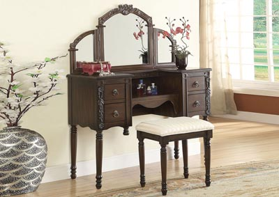 Image for Ashton Oak Vanity Desk & Stool