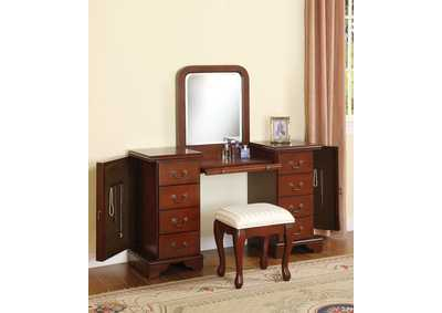 Louis Philippe Brown Vanity Mirror