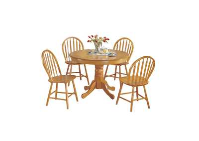 Farmhouse Oak Dining Set (Set of 5)