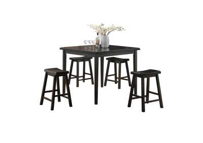 Gaucho Black 5 Piece Counter Height Dining Set